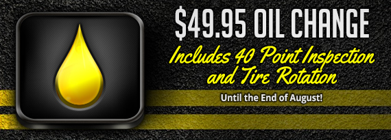 40 Point Inspection and Tire Rotation Free with Oil Change $49.95